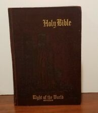HOLY BIBLE Light of the World Edition (1954) King James Version EMBOSSED COVER