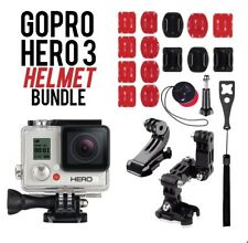 GoPro HERO3 White Edition Action Camera Wi-Fi CHDHE-301 W/ Helmet Bundle