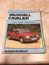 VAUXHALL CAVALIER 1981-1986 Autodata Manual [ BS ]