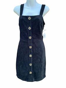 No Boundaries NOBO Black Corduroy Strappy Dress jumper jr size 3-5 new school