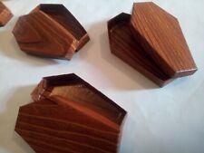"2 pcs Coffin Casket Mini  Box,Halloween,Wedding favors, Birthday Gift,3.7""/9.5cm"