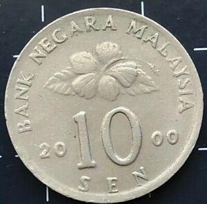 2000 MALAYSIAN 10 SEN COIN - BANK NEGARA MALAYSIA CURRENCY