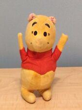 "vtg GUND Winnie The Pooh Wood Chip saw dust Filled Stuffed Animal Toy 6"" 5 plush"