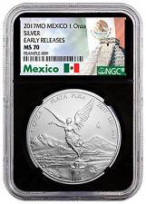 2017-Mo Mexico 1 oz Silver Libertad NGC MS70 ER Black Core Excl Label SKU47091