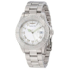 Invicta 12819 Women's Pro Diver Diamond Bezel Silver Dial Watch