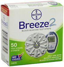 Breeze 2 Blood Glucose Test Strips 50ct EXP 2012-10
