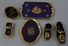 Limoges France Porcelain Set of 6 Miniatures China Collectable Cute Decor Gifts