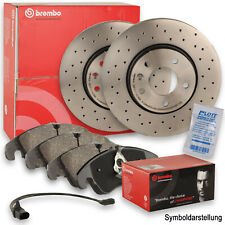 Textar bremsenset discos de freno ø320 ventilado balatas delantera Audi