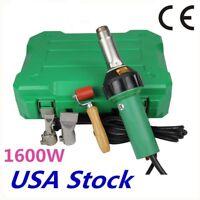 US Stock 1600W Hot Air Welding Gun Kit Pistol Plastic Welder Heat Gun Torch CE