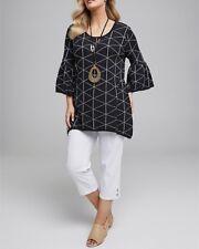 Ladies Navy Blue GEMMA JUMPER Soft Fine Cotton & Lurex Thread RRP $139 Size 24