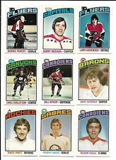1976-77 OPC Hockey:Lot of 9 different