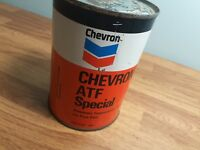 Chevron ATF Special Automatic Transmission Fluid Tin Can Ford Vintage Canadian