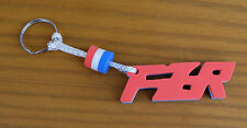 FZR Word Foam Letter Red / White / Blue Key Fob Ring Clearance