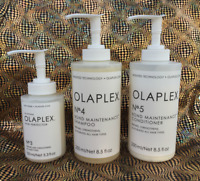Olaplex Shampoo No 4, Conditioner No 5 & Hair Perfector No 3 w/ Dispenser Pumps