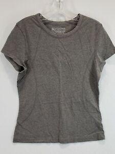 Women's TEK Gear Short Sleeve Large Gray Gently Used