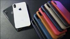 Original Apple iPhone X und XS Leather Case Leder Hülle ALLE FARBEN iPhone X XS