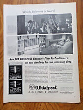1956 RCA Whirlpool Room Air Conditioners Ad Bedroom Theme