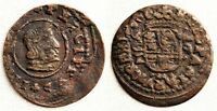 Spain-Felipe IV. 16 Maravedis. Cordoba. Cobre 3 g. Variante: descentrada