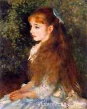 Little Irene Cahen d'Anvers by Auguste Renoir Art Girl Long Hair 8x10 Print 0826
