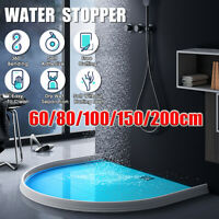60CM-2M Silicone Flexible Bathroom Kitchen Water Stopper Barrier Retaining