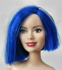 Mattel Barbie Fashionistas Doll w/Blue & White Short Hair Model for Ooak ~ Nude