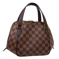 LOUIS VUITTON BELEM PM HAND BAG AR1058 PURSE DAMIER EBENE N51173 AUTH 32603