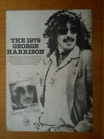 "GEORGE HARRISON  10"" x 15"" FULL PAGE MAGAZINE ADVERT 1979 ROCK POSTER BEATLES"