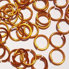 ORANGE Anodized Aluminum JUMP RINGS 300 1/4 16g SAW CUT Chainmail chain mail