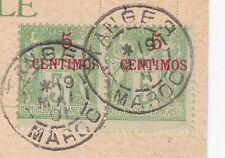 1901 TRES RARE PAIRE 5C VERT SUR JAUNE COTE SUP 680 EUROS