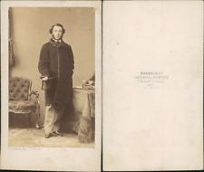 Disdéri, Paris, Homme au chapeau  Vintage CDV albumen carte de visite CDV, tir