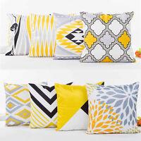 Rayon Pillow Case Geometry Print Sofa Bed Waist Throw Home Decor Cushion Cover