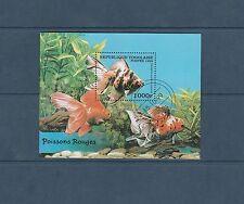 Togo bloc   faune  poissons     de 1999   num:  328K  oblitéré
