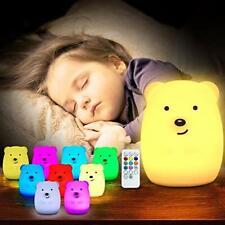 TOPERSUN Veilleuse Chambre Lampe Veilleuse Bébé Multicolore Rechargeable à Dista