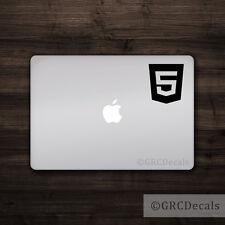 HTML 5 - Vinyl Decal Mac Apple Logo Laptop Sticker Macbook Decal Code Web Design