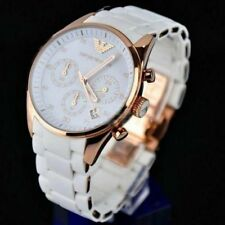 IMPORTED ITALIAN EMPORIO ARMANI AR5919 LUXURY WHITE CHRONOGRAPH MENS WATCH