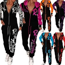 Ladies Jogging Suit Jacket and Trousers Sports College Fitness Trackies New