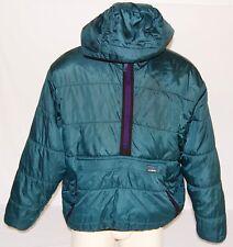 Vintage LL Bean Mens Large 1/2 Zip Prima Loft Hooded Pouch Pocket Puffer Jacket