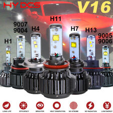 V16 Turbo Cree Car LED Headlight Kits Hi/Lo Beam Bulbs H4/H7/H11/H9/H8/9006/9005