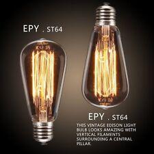 Industrial Vintage Retro Thomas Edison Light Bulb Spiral Filament 40W Globe E27