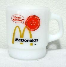 EUC Vintage FIRE KING COFFEE MUG McDonalds Good Morning Anchor Hocking USA