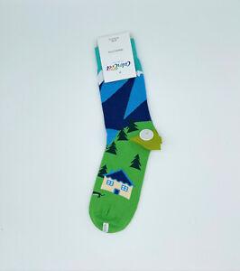 Men Chalet House Socks/Gift Socks/Funny Socks/Premium Cotton Novelty Socks