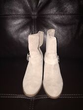 Sole Society Beige Suede Boots