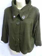 Button Wool Blend Collared Jumpers & Cardigans for Women
