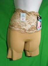 2cb658a5a6 NEW ASSETS BY SPANX 1155 A CHIC PEEK NUDE LACE WAIST MID-THIGH PANTIES M