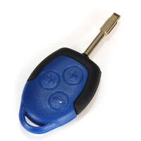 3 Boutons Coque Boîte Clé Télécommande Plip Bleu Lame Vierge Pour Ford Transit