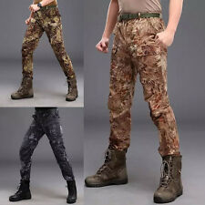 Men Outdoor Tactical Camo Hiking Hunting Pants Quick-drying Waterproof Trousers