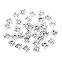700pcs Tibetan Alloy Square Metal Beads Tiny Loose Spacer Antique Silver 5x5mm
