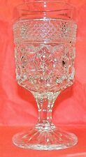 Vintage Brilliant Diamond Pattern Pressed Glass Wine Glass - Goblet