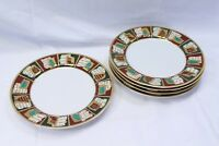 "Pier 1 Imports Yuletide Greetings Xmas Dinner Plates 10.375"" Lot of 5"