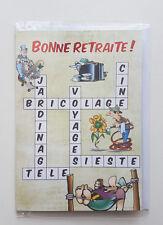 CARTE HUMORISTIQUE BONNE RETRAITE, AVEC 1 ENVELOPPE INCLUSE, NEUF